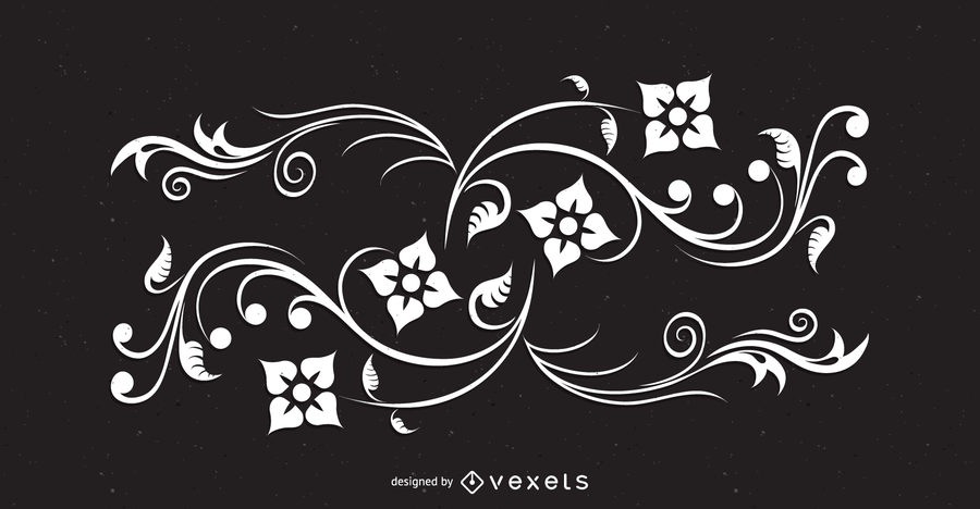 Ondas florales abstractas