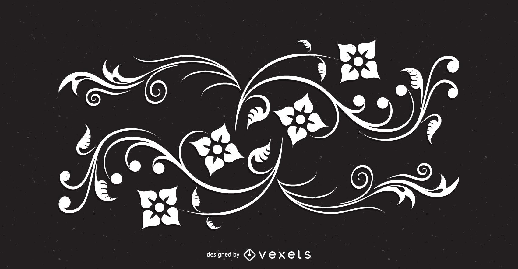 Abstract floral swirls illustration