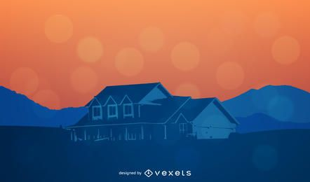 Vector de casa de campo