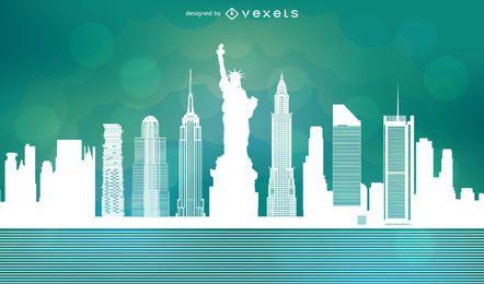 Vetor de skyline de Nova York