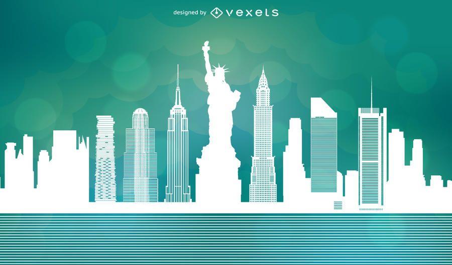 NYC Skyline Vector