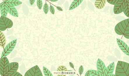 Fondo de naturaleza verde fresca con floritura