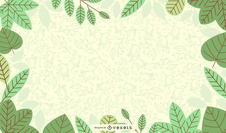 Fresh Green Nature Background with Flourish