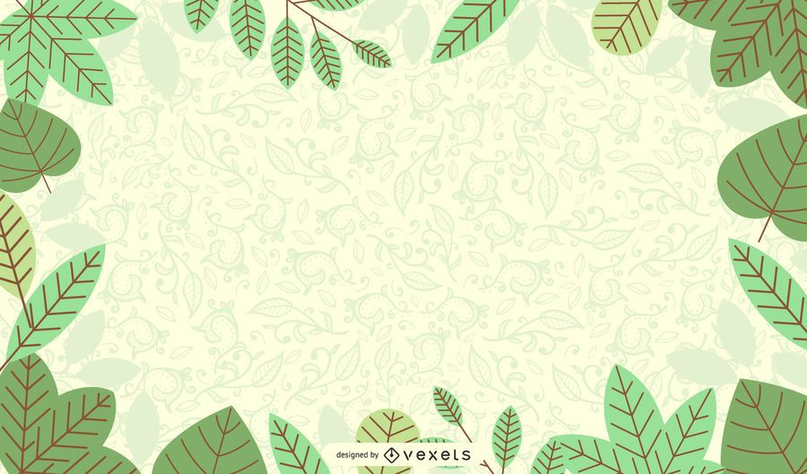 Fresh Green Nature Background With Flourish Vector Download