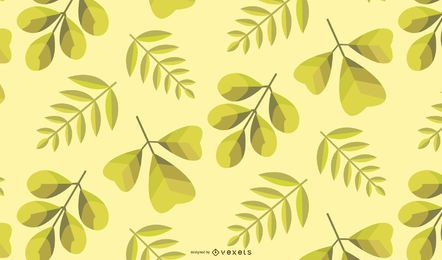 Green Autumn Leaves Background