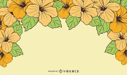 Fundo de verão brilhante flor havaiana