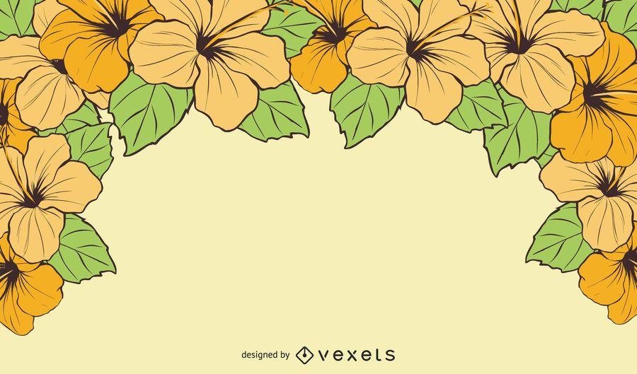 Bright Hawaiian Flower Summer Background