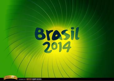 Brasil 2014 Fondo de remolino verde