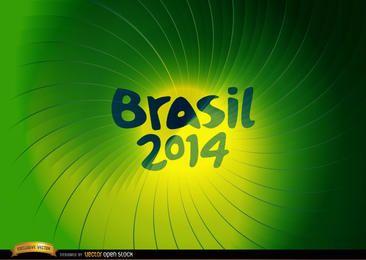 Brasil 2014 Green whirl background
