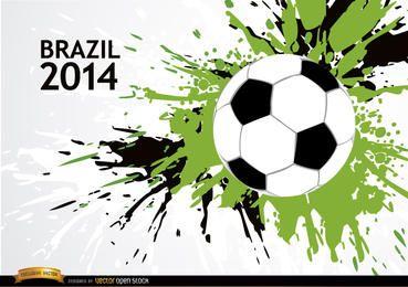 Fundo do futebol Grunge Brasil 2014