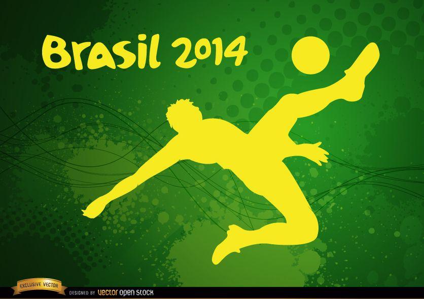 Jugador pateando el f?tbol Brasil 2014