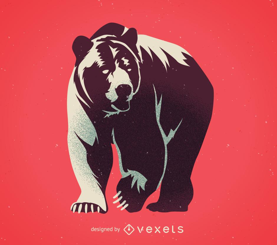 Vector de oso