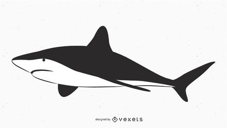 Vetor de tubarão grande