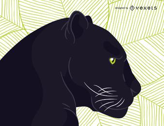 Vector de pantera negra