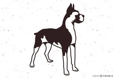 Vetor de cão boxer