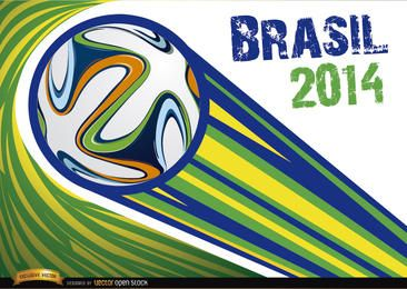 Brasil 2014 bola lanzada con rayas.