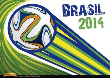 Brasilien 2014 Ball mit Streifen geworfen