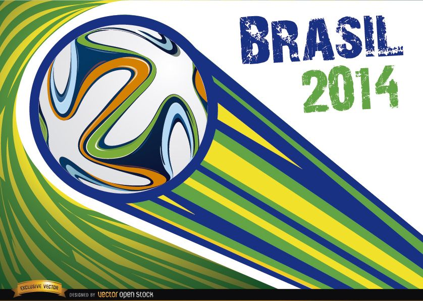 Brasil 2014 pelota lanzada con rayas