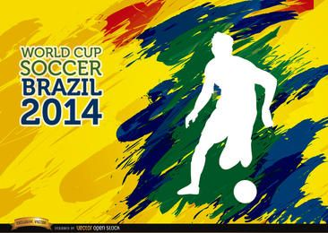 Pinceladas Copa Mundial de Fútbol Brasil jugador