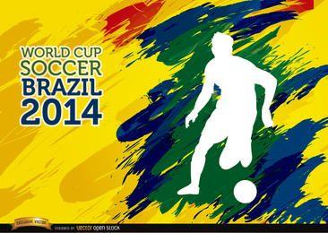 Pinceladas jogador da Copa do Mundo de futebol do Brasil