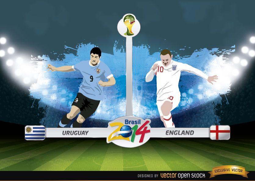 Uruguay vs Inglaterra Brasil 2014 WorldCup Match