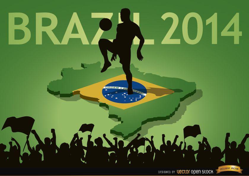 Multidões de fãs do país Brasil 2014