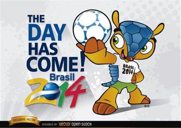Brasil 2014 começa com o mascote Fuleco