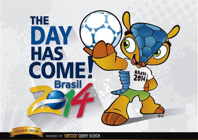 Brasil 2014 comienza con la mascota Fuleco