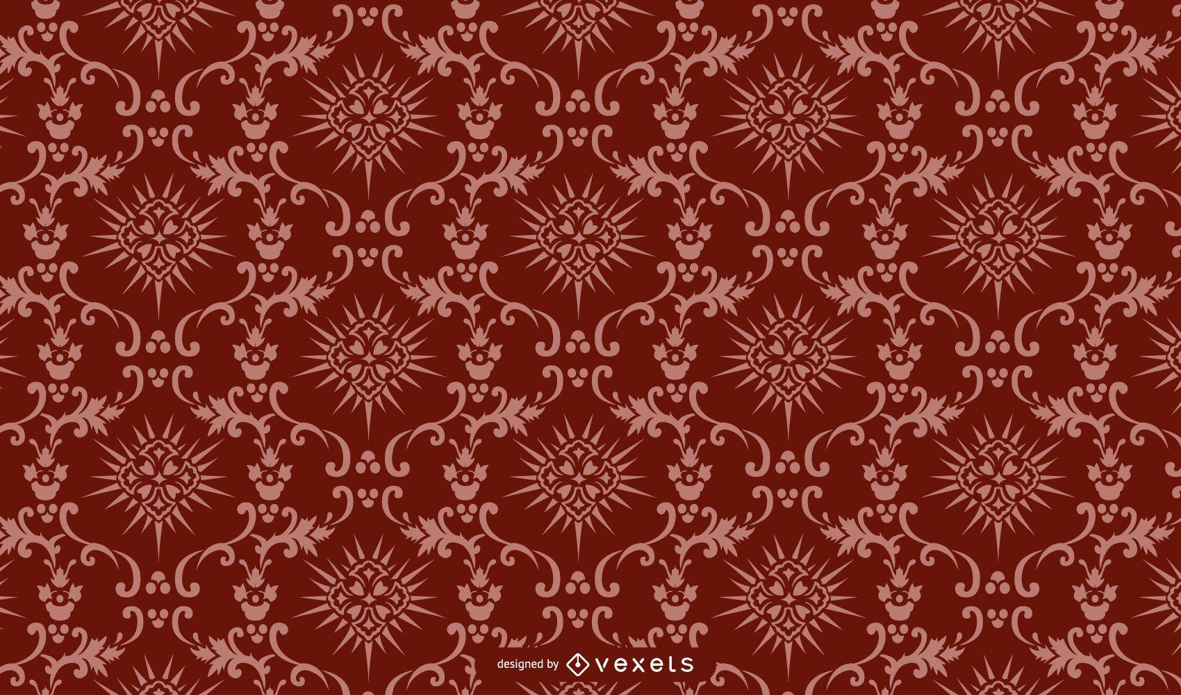 Vintage Paisley Pattern Cutting Edge Background