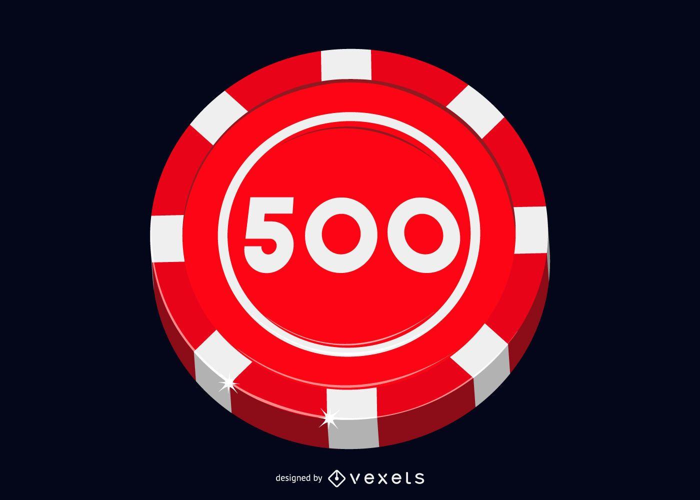 Casino roulette chip