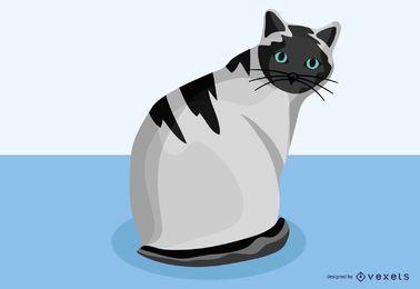 Un vector de gato