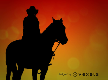 Vetor de cowboy