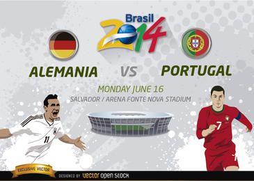 Alemania vs. Portugal Brasil 2014