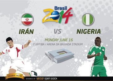 Irán Vs. Nigeria Brasilien 2014