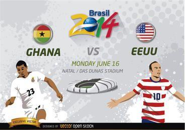 Ghana Vs. EE.UU. Brasilien 2014