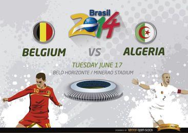 Bélgica Vs. Partido de Argelia para Brasil 2014