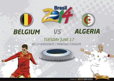 Bélgica vs. Partido de Argelia por Brasil 2014