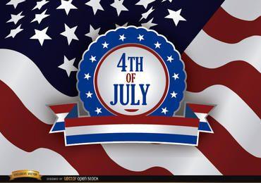 4 de julho Dia da Independência Badge