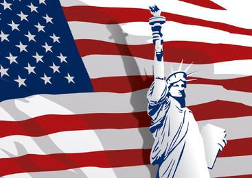 Dia da Independência com a Liberdade Satue