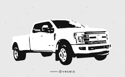 Ford Pickup Truck Sketch