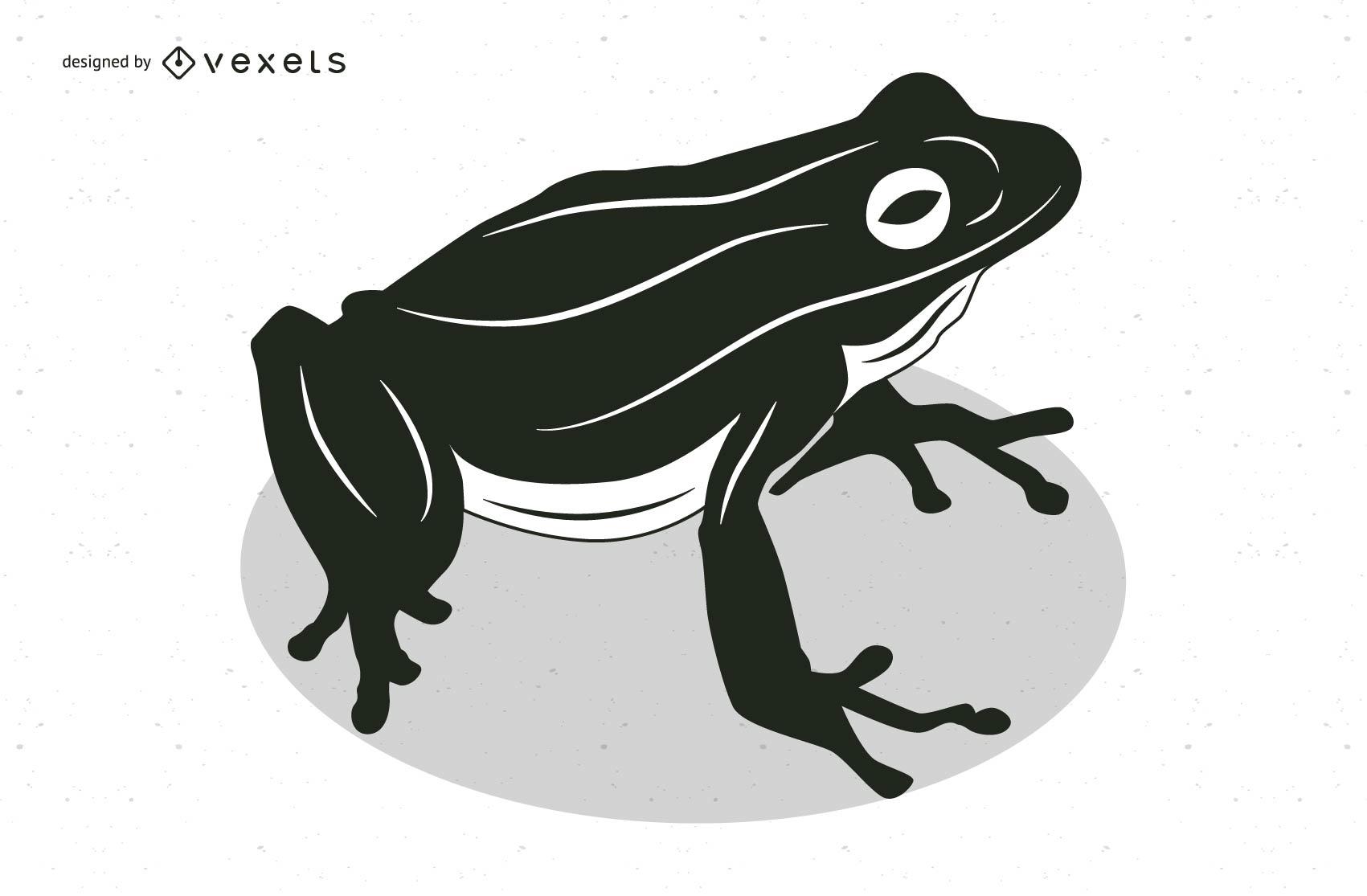 Black & White Comic Style Frog