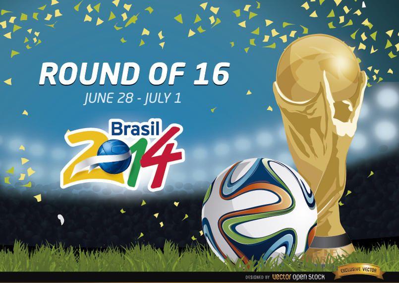 Round of 16 Brazil 2014 Promo