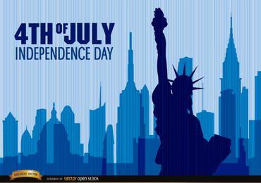 Estátua da liberdade do dia da independência