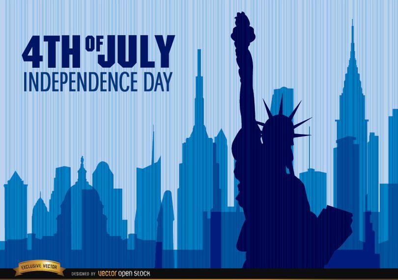 Día de la independencia estatua de la libertad