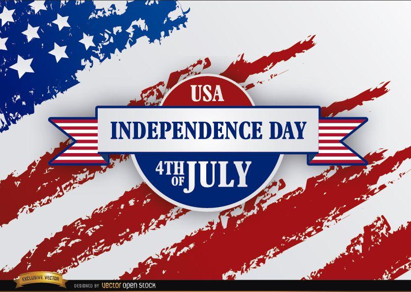 Bandera de Estados Unidos grunge cinta día de la independencia