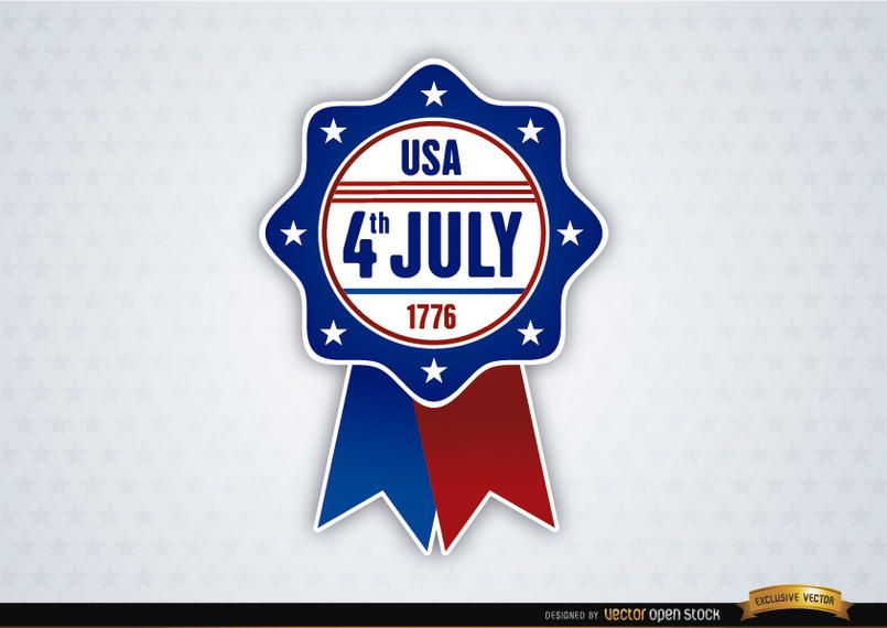 USA July 4th Ribbon