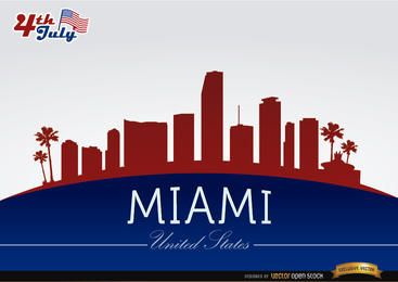 Miami Skyline am 4. Juli Gedenken
