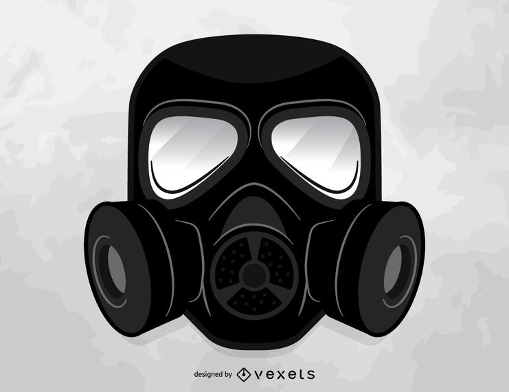 Vector de máscara de gas