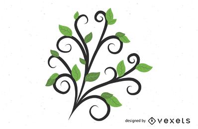 Vetor de folhas verdes