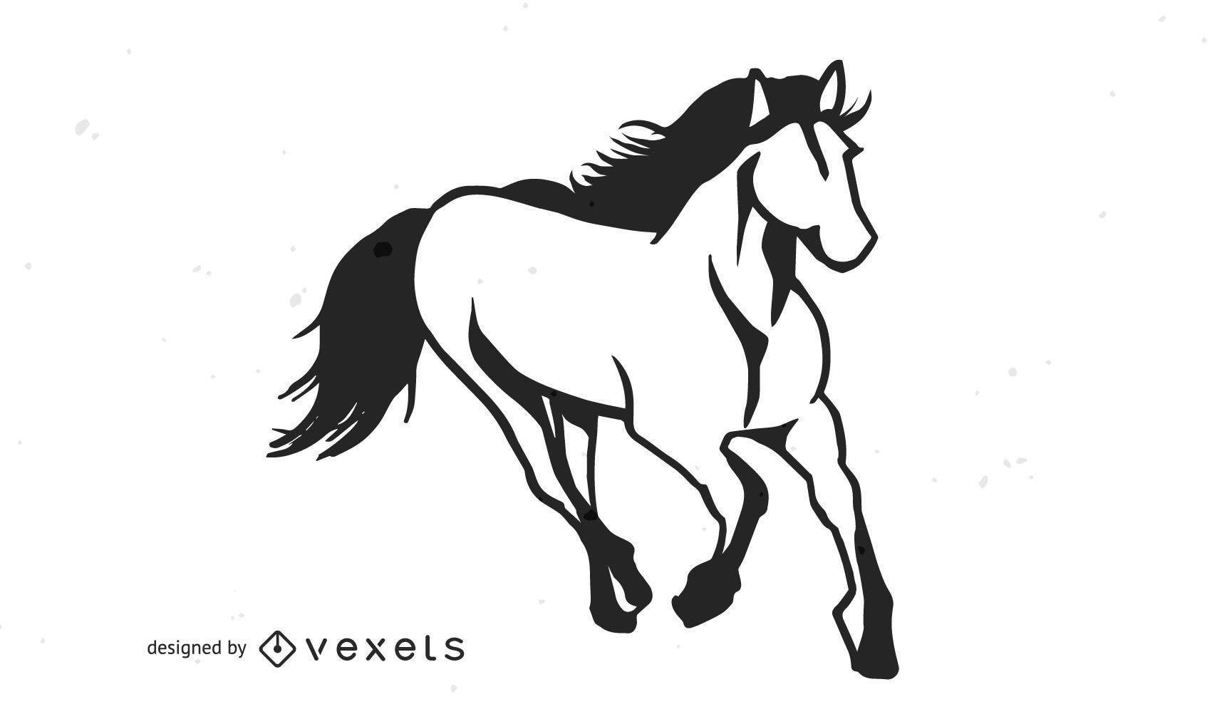 Arte creativo del caballo encabritado